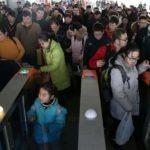 Пассажиры в Китае