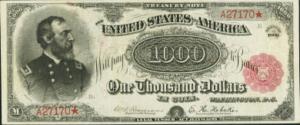 Банкнота $1000