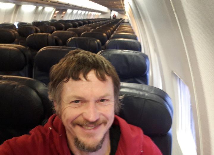 Единственный пассажир на рейсе Вильнюс - Милан