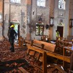 Одно из мест взрывов на Шри-Ланке (21-е апреля 2019)