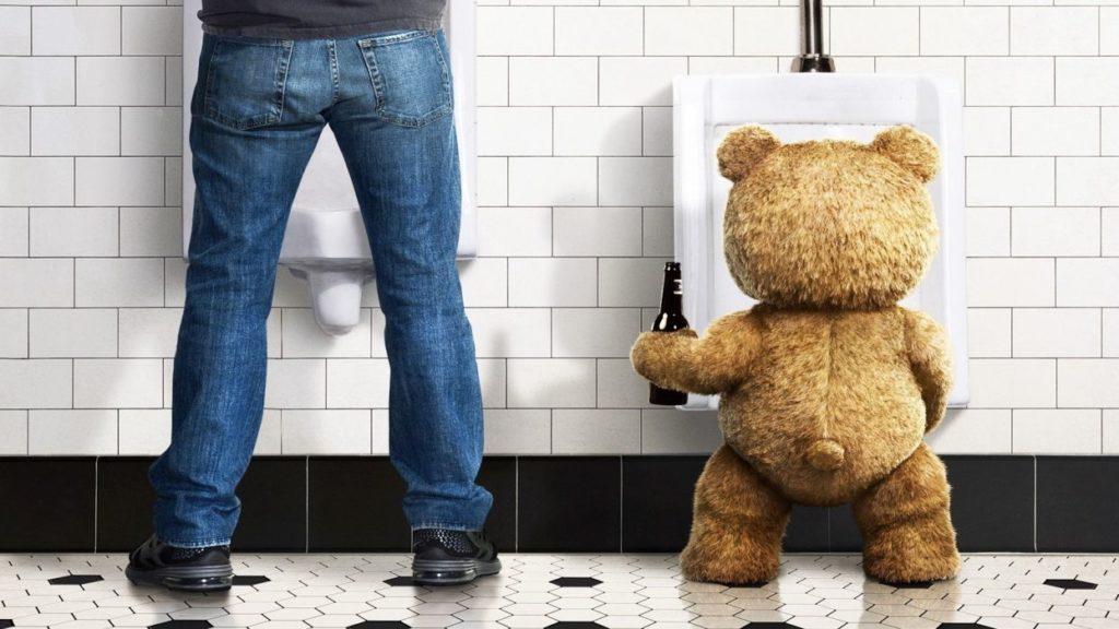 Медвежонок Тэд с пивом