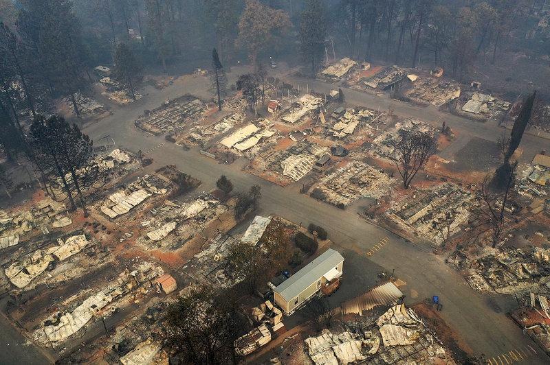 Последствия пожара в Калифорнии, 2018