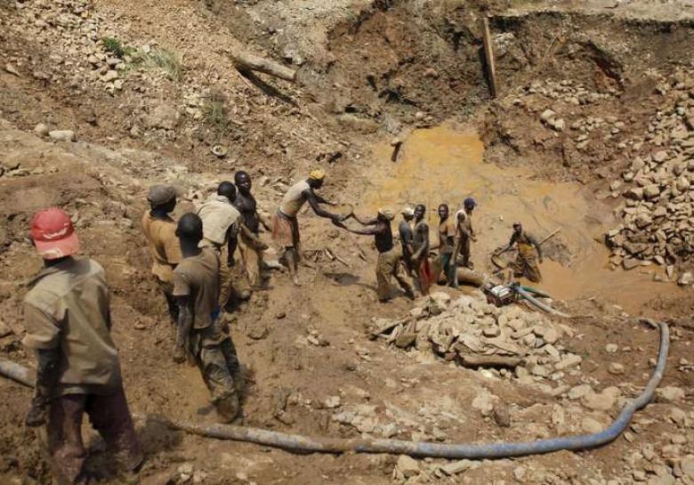 Шахтёры в Конго