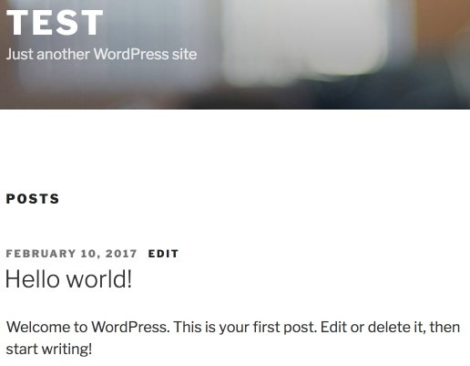 Wordpress Hello World