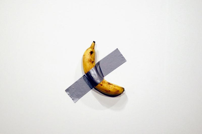 Duct-taped banana