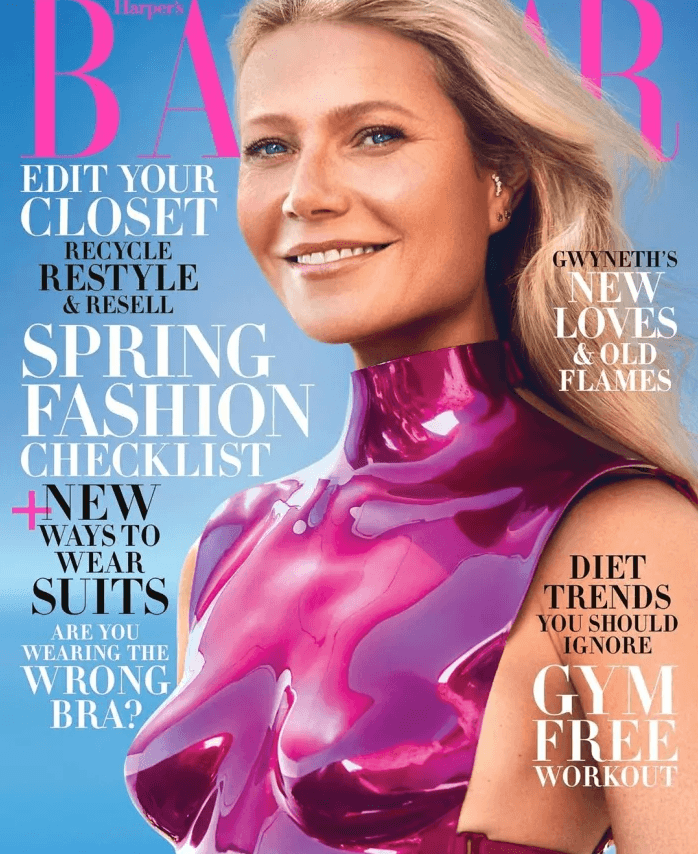 Gwyneth Paltrow wearing boob plates