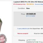 Logitech Brio webcam priced $420 on eBay